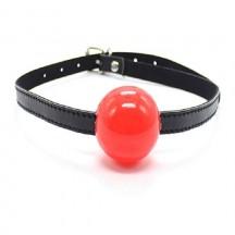 Красный кляп-шар из силикона