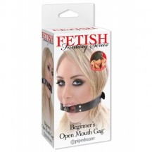 Кляп-кольцо FF Series Beginner's Open Mouth Gag Black