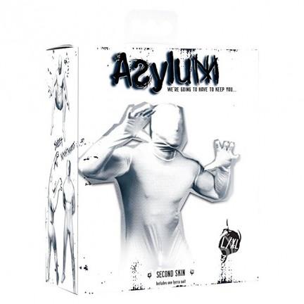 Кэтсьюит Asylum с маской на голову белый