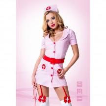 Розовый костюм Похотливая медсестра S/M