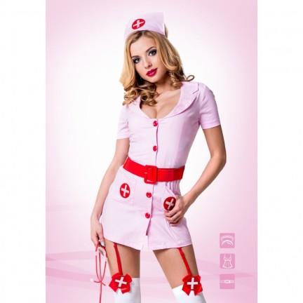 Розовый костюм Похотливая медсестра L/XL