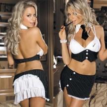 Комбинированный топ и юбочка Sexy-секретарь