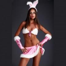 Соблазнительный костюм Зайка розовый S/M