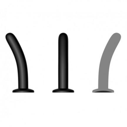 Черный анальный стимулятор с присоской S