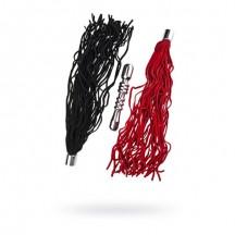 Анальный стимулятор в виде плеточки с 2-мя сменными насадками черная и красная