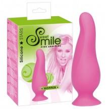 Smile Анальная втулка Hopper розовая