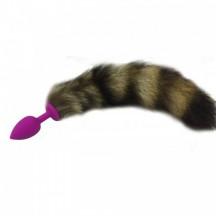 Хвостик с силиконовой фиолетовой пробкой