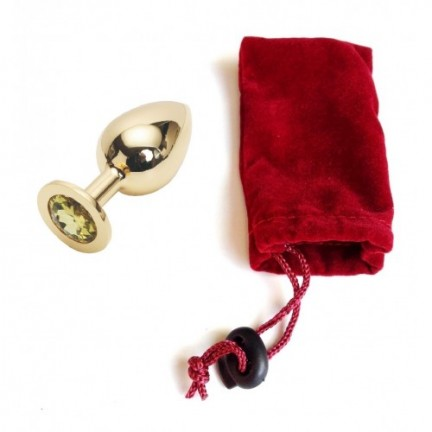 Стальная пробка Jewelry Plug Medium Gold жёлтая