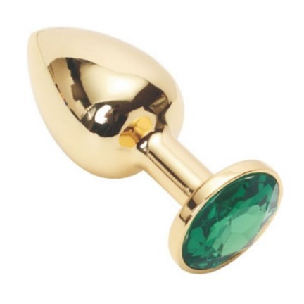 Анальное украшение Golden Plug Large зеленый