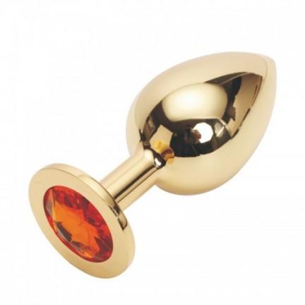 Стальная пробка Jewelry Plug Medium Gold оранжевая