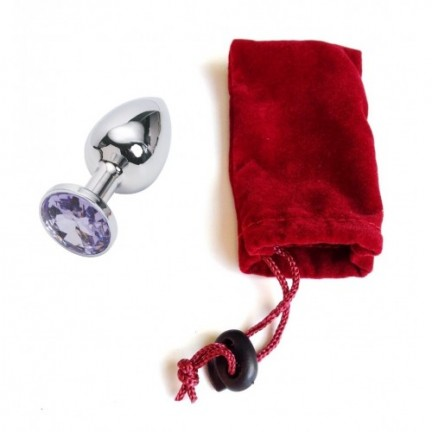 Анальное украшение Butt Plug Small нежно-пурпурный