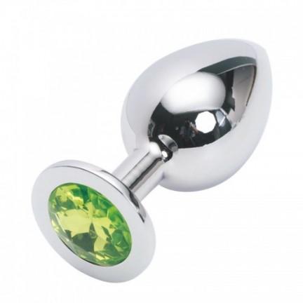 Стальная пробка Jewelry Plug Medium Silver лаймовая