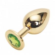 Стальная пробка Jewelry Plug Medium Gold лаймовая