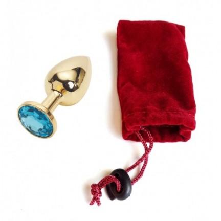 Анальное украшение Golden Plug Small голубой