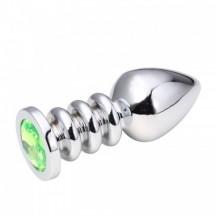 Анальная пробка Silver Relief Light Green L
