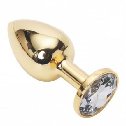 Анальное украшение Golden Plug Small кристалл