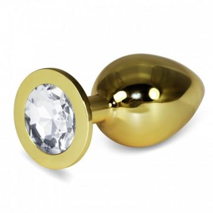 Анальное украшение Golden Plug Large бриллиант