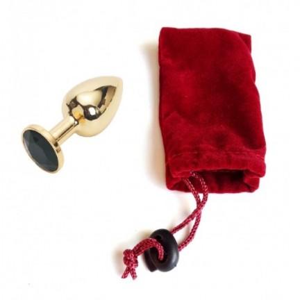Анальное украшение Golden Plug Small черный