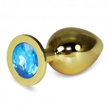 Анальное украшение Golden Plug Large голубой