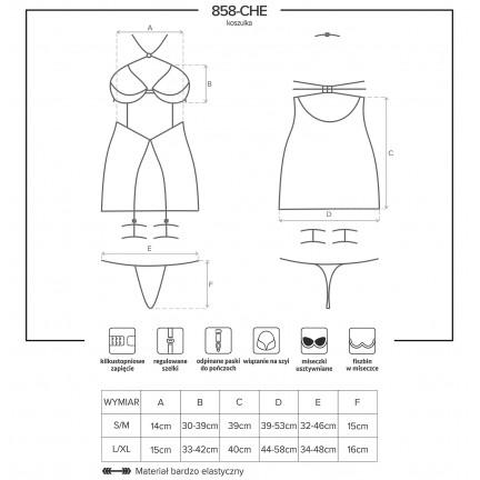 Соблазнительная сорочка и стринги L/XL