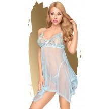 Эротический голубой бэби-долл со стрингами Penthouse Naughty Doll M/L
