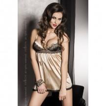 Эротическая сорочка Sharon золотая S/M