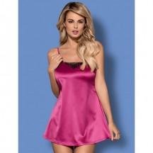 Розовая сорочка и трусики Satinia S/M