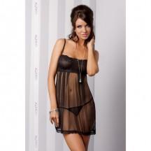 Сорочка Nicolette черная L/XL
