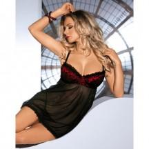 Черная сорочка Oriana L/XL