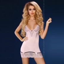 Пепельно-розовая сорочка с трусиками Stephanie S/M
