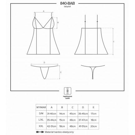 Классический беби-долл и трусики-стринги L/XL