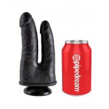 Двойной фаллоимитатор с присоской King Cock Double Penetrator Black