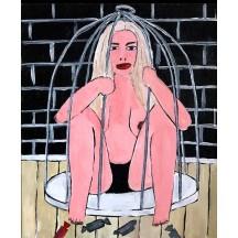 Картина Сижу в клетке, ем конфетки