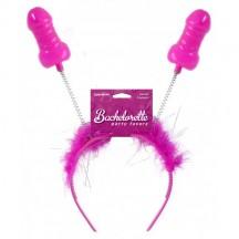 Обруч на голову с рожками-пенисами Bachelorette Party Favors Pecker Boppers