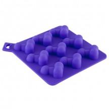 Форма для льда в виде пенисов, фиолетовая