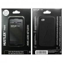 Черный силиконовый чехол Hustler для iPhone 4, 4S