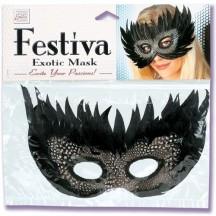 Черная маска Festiva Exotic