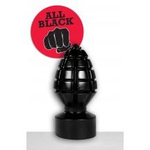 Черная анальная пробка All Black
