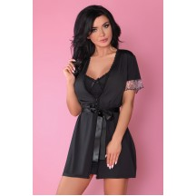 Черный халатик Dina L/XL