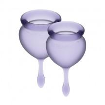 Набор менструальных чаш Satisfyer Feel Good, лиловый