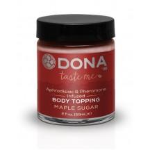Карамель для тела с феромонами и афродизиаками Dona Body Topping Maple Sugar