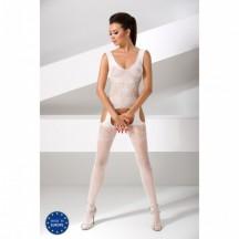 Обворожительный боди-комбинезон белого цвета BS046