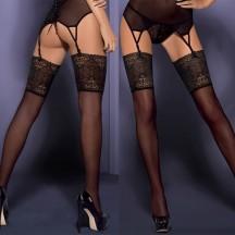 Чулки с широкой цветочной резинкой Intensa Stockings L/XL