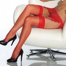Чулки увеличенного размера капрон красные XL