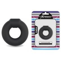 Эрекционное кольцо из медицинского силикона черное Ultra Soft Platinum