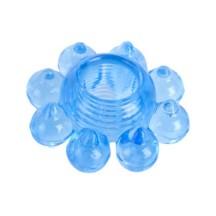 Тянущееся голубое кольцо с массажными шариками