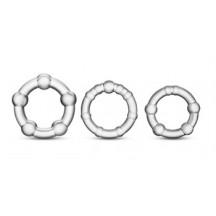 Набор колец прозрачных Power Plus Triple Beaded Ring Set