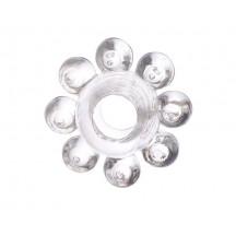 Тянущееся прозрачное кольцо с массажными шариками