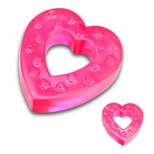 Розовое кольцо-сердце на пенис
