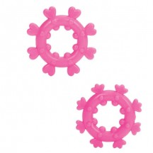 Набор из двух розовых эрекционных колец Magic Love Rings